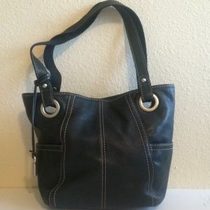 Vintage Fossil Hathaway tote pebbled leather M EUC